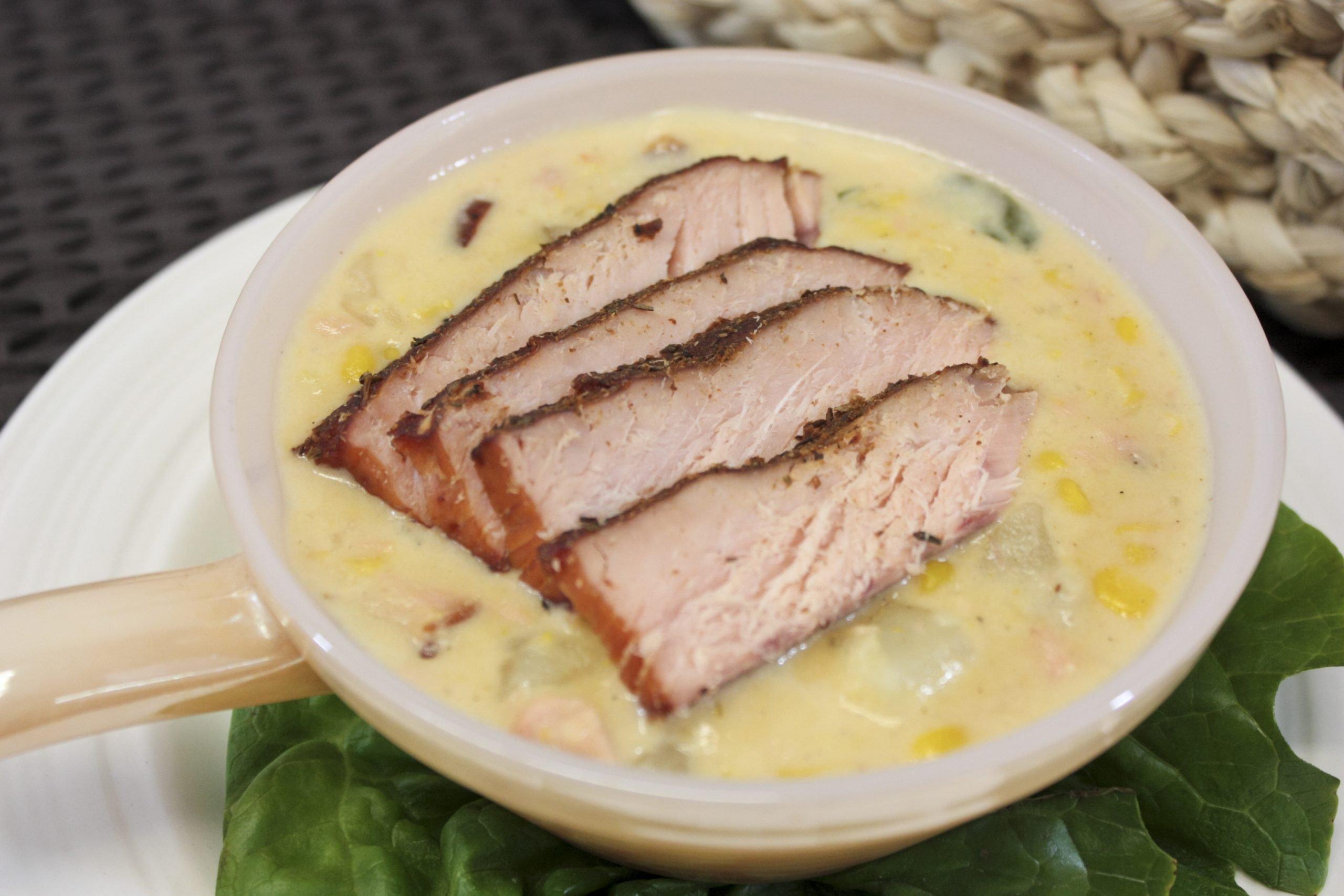 Morey's Salmon Corn Chowder