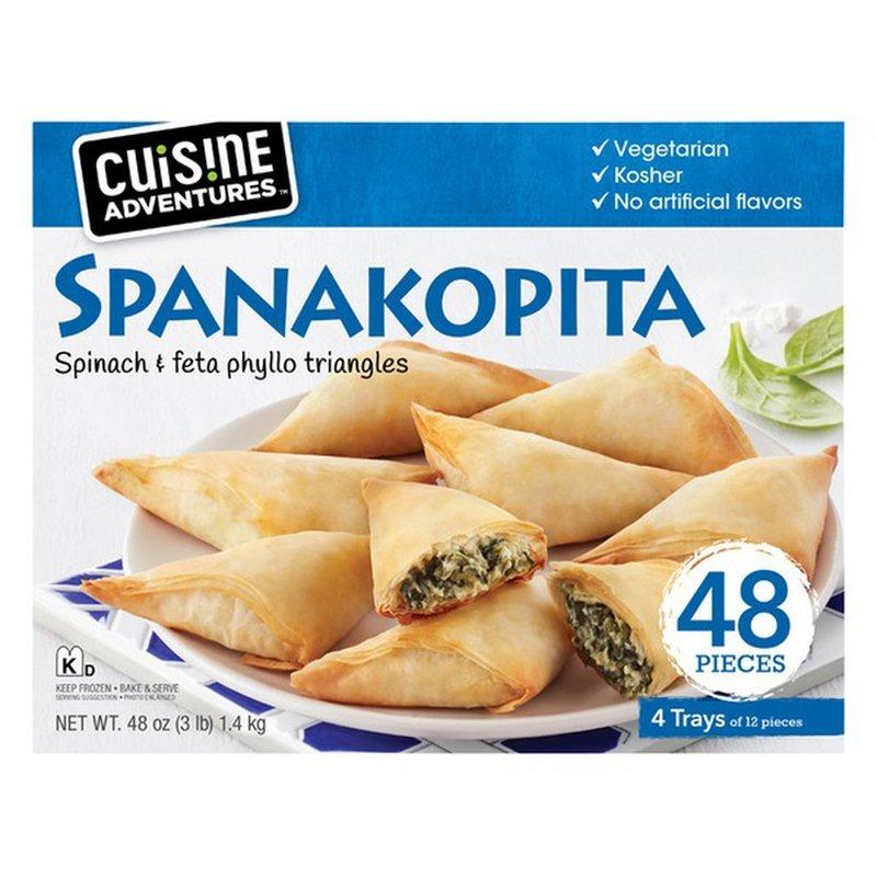 Cuisine Adventures Spanakopita Spinach & Feta Phyllo Triangles