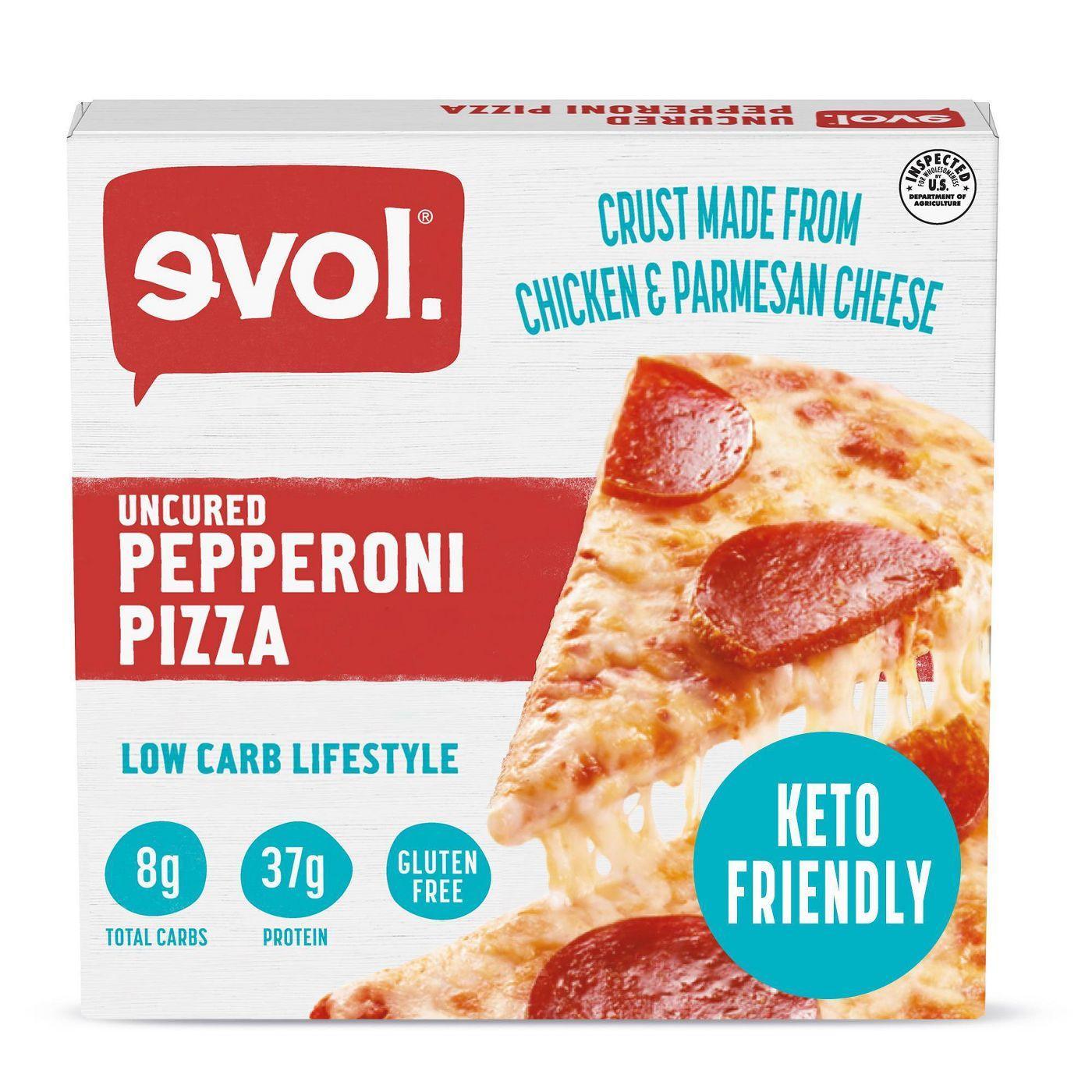 Evol Uncured Pepperoni Pizza