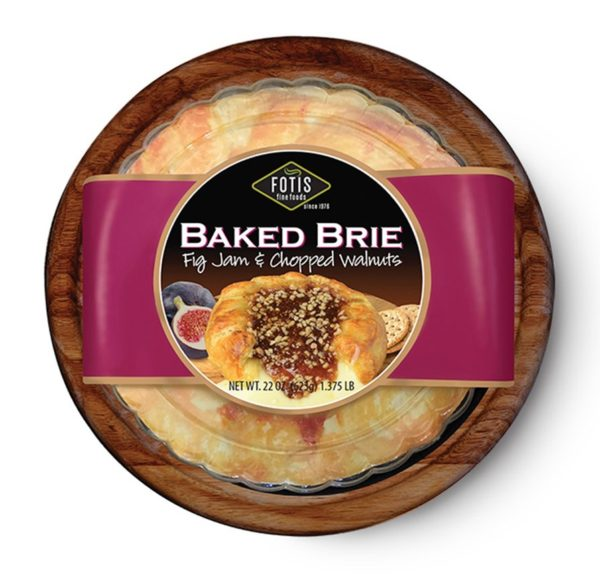 Fotis Baked Brie with Fig Jam and Chopped Walnuts