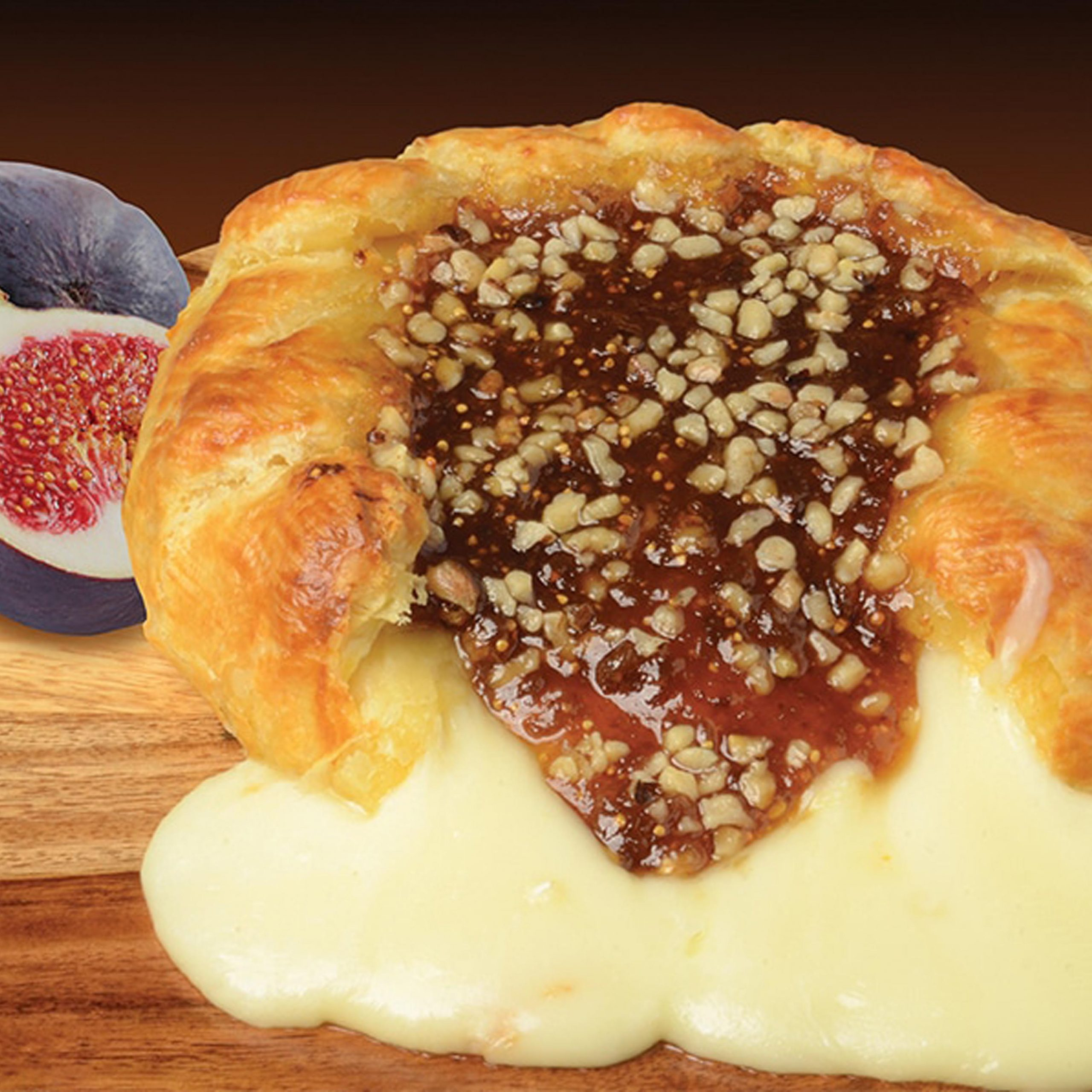 Fotis Baked Brie with Fig Jam & Chopped Walnuts Plated