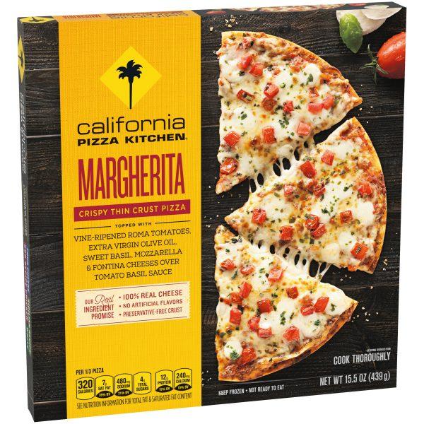 Margherita Crispy Thin Crust Pizza Angle 1
