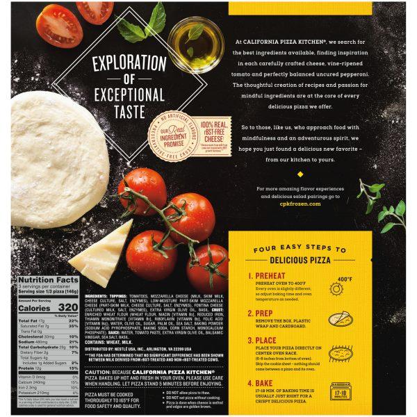 Margherita Crispy Thin Crust Pizza Back