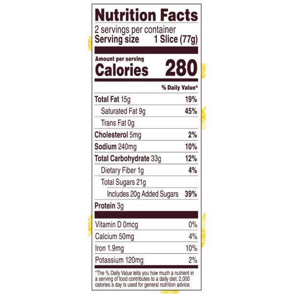Turtle Cream Pie Nutrition