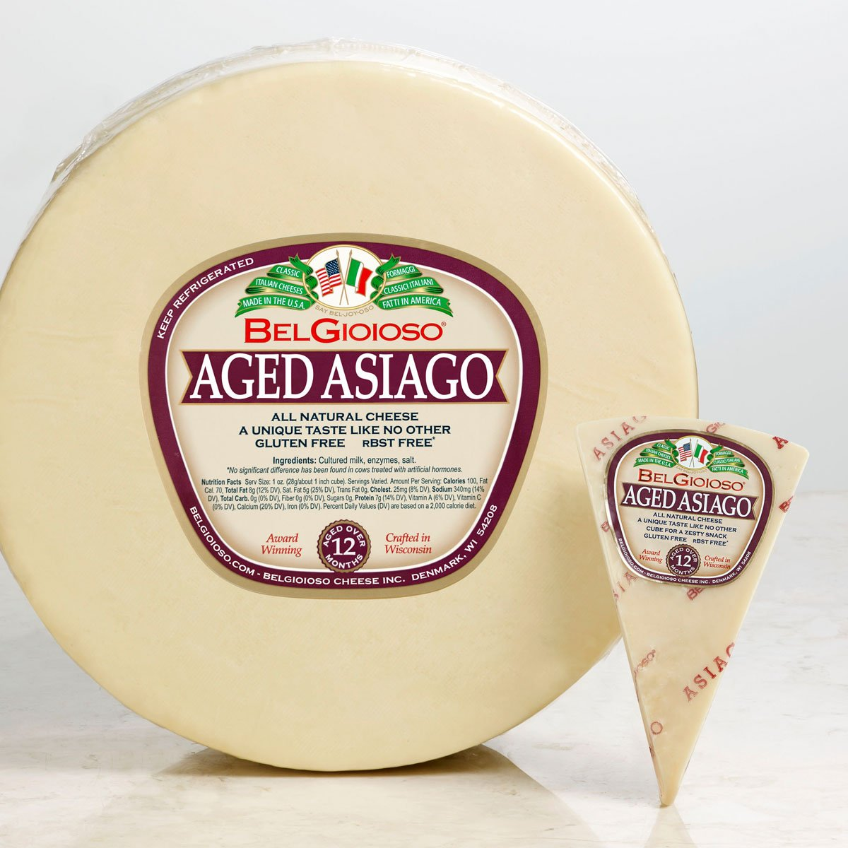 Asiago Cheese Block Front