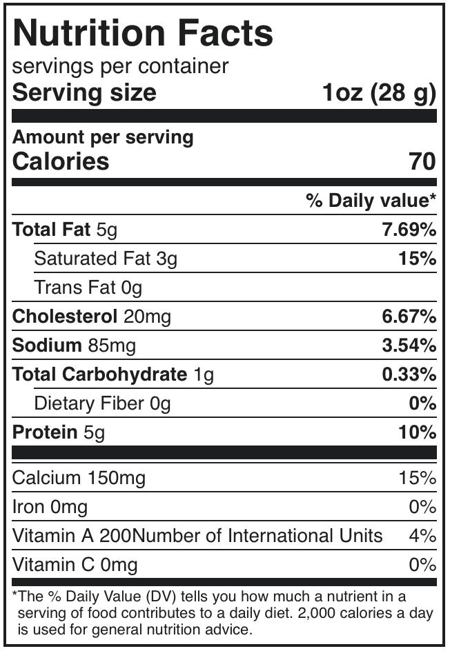 BelGioioso Fresh Mozzarella Nutrition