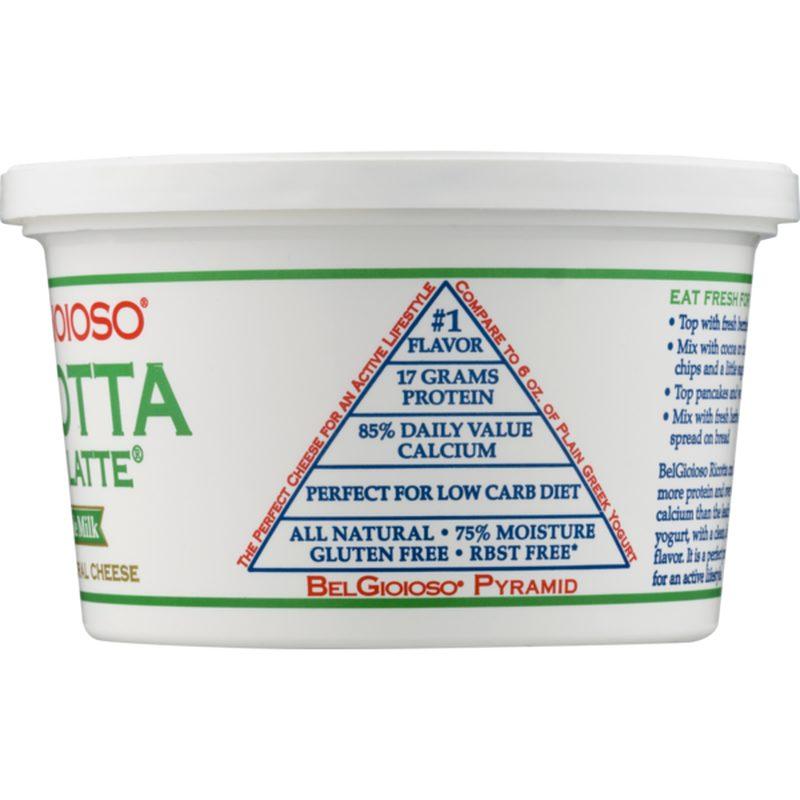 BelGioioso Ricotta Whole Milk Packaged Side 2