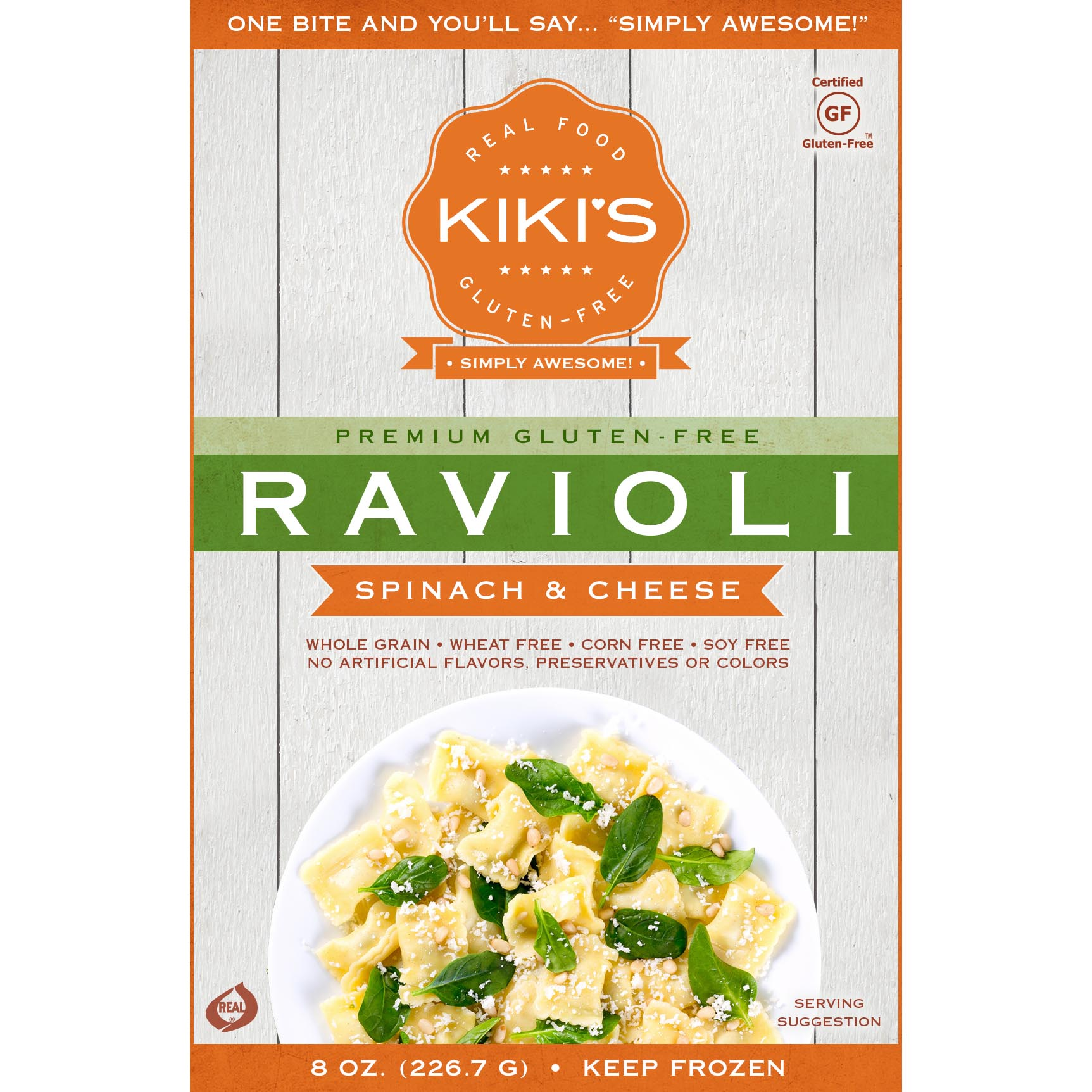 Kiki's Spinach and Cheese Ravioli Square
