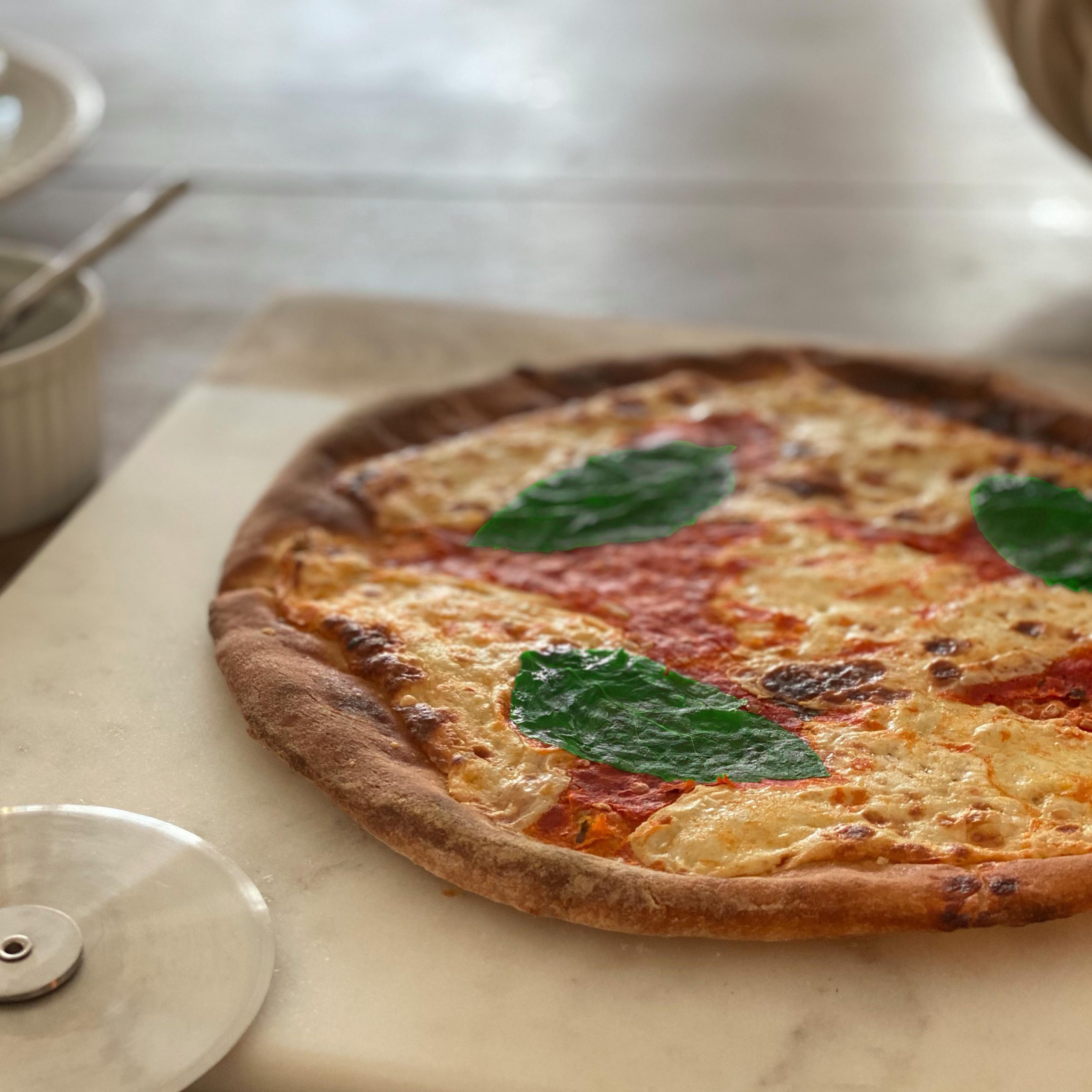 Margherita Pizza Plated 4 Square V3