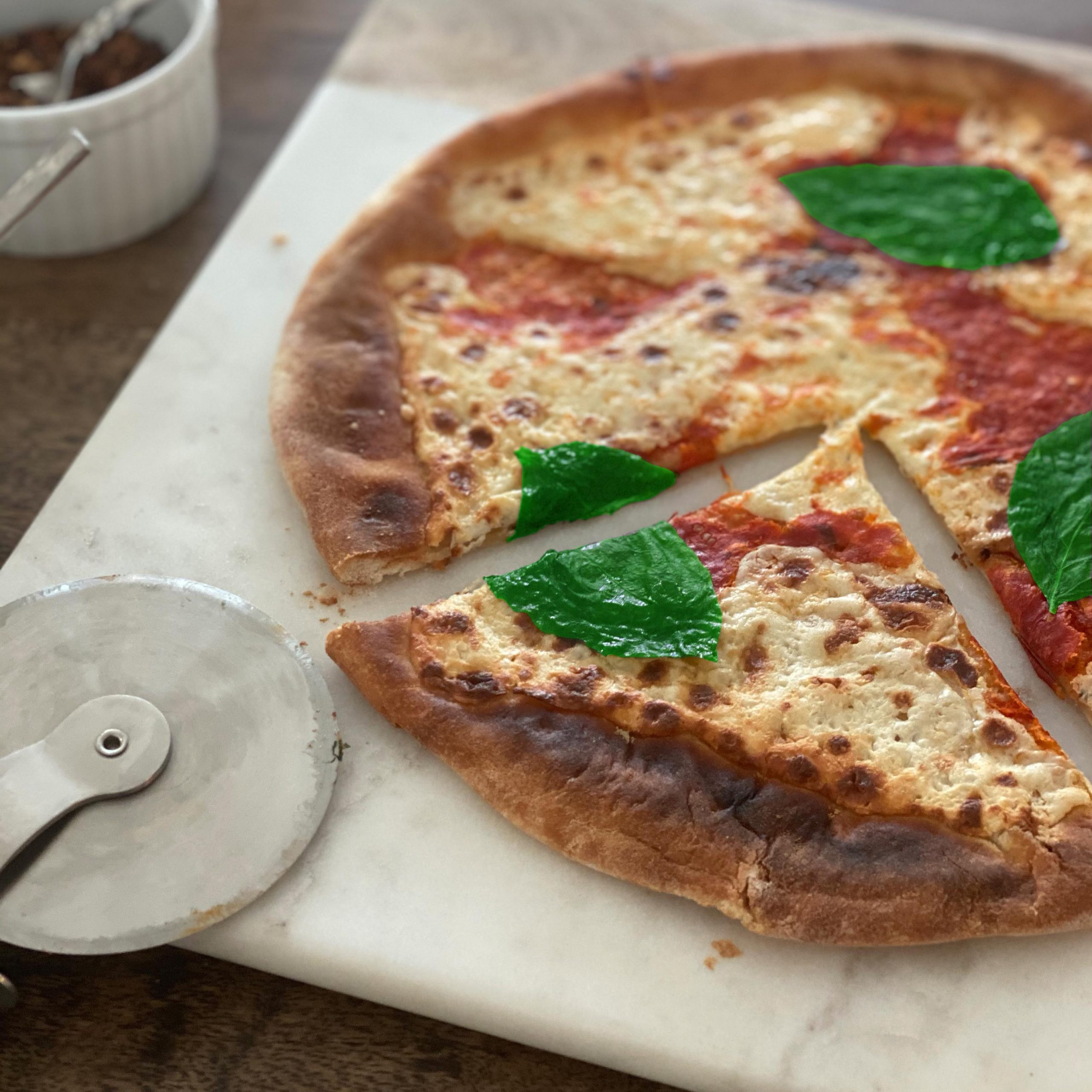 Margherita Pizza Plated Cut 3 Square V3