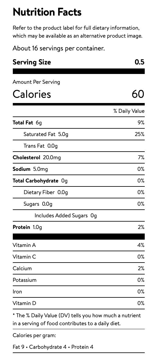 Mascarpone Nutrition