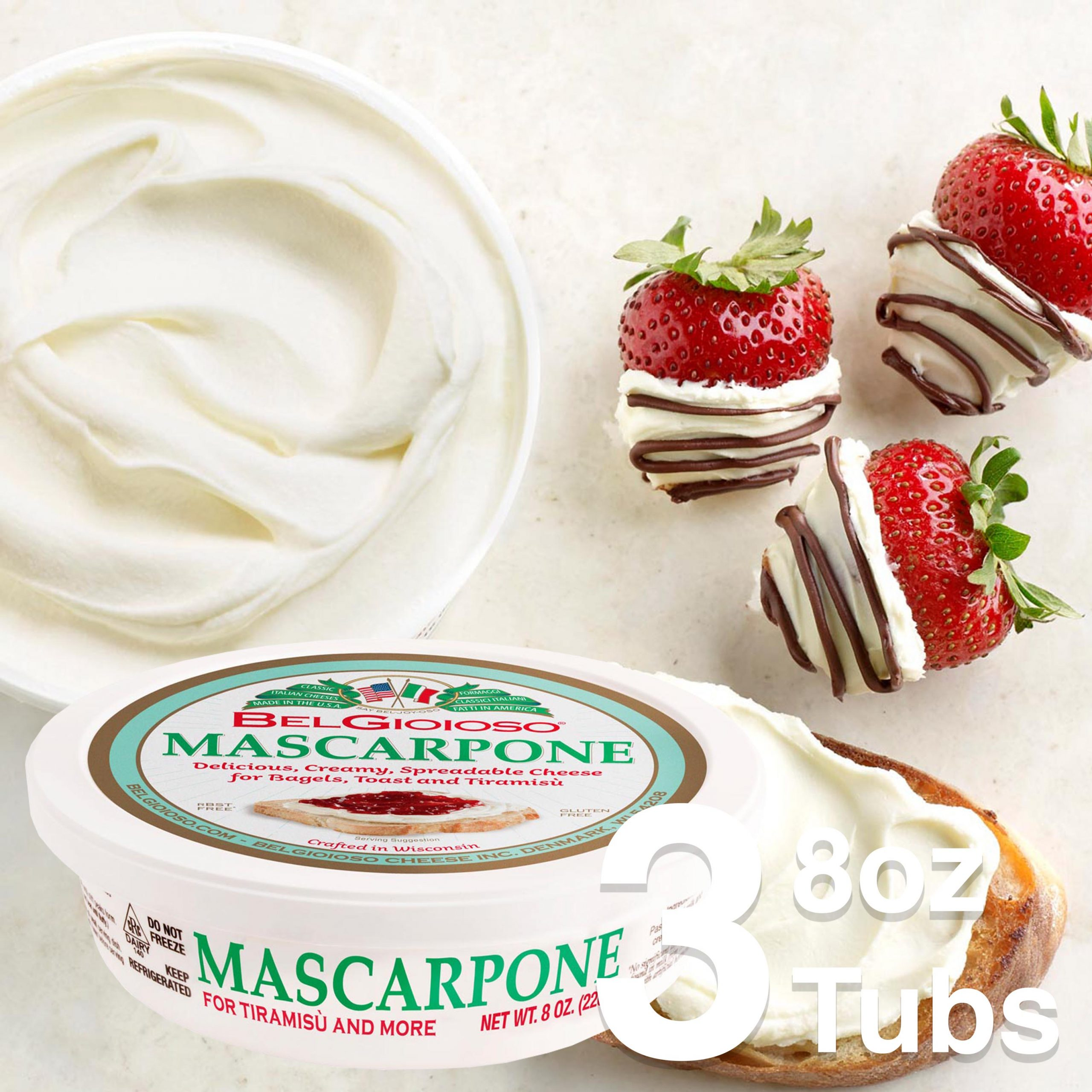 Mascarpone and Strawberries Feature V4