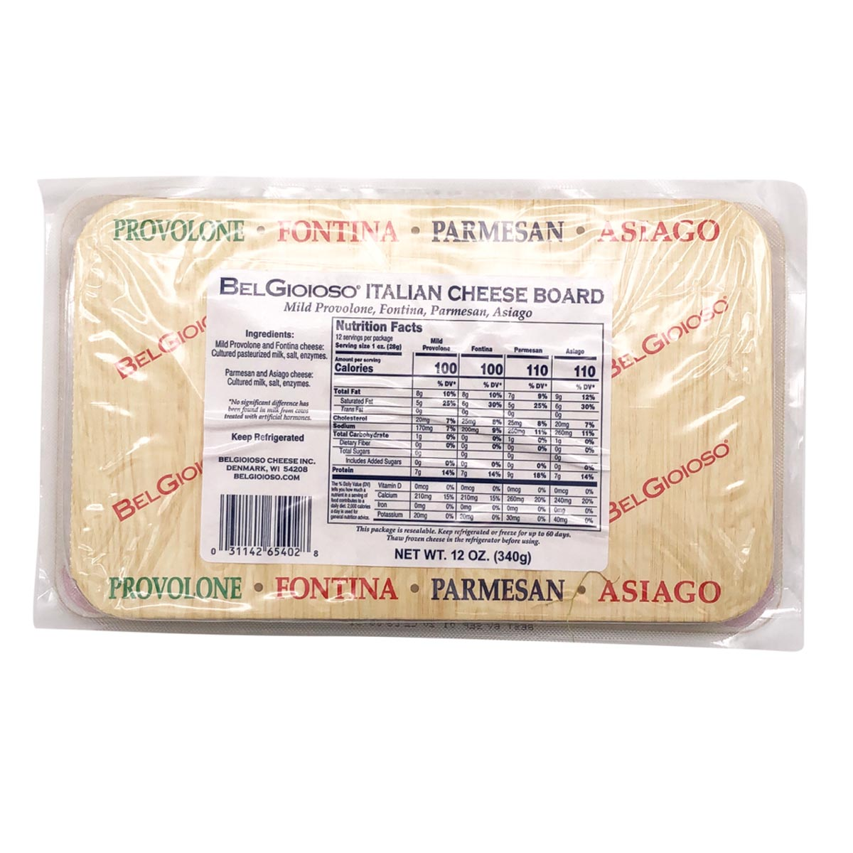 Packaged Cheese Board Back