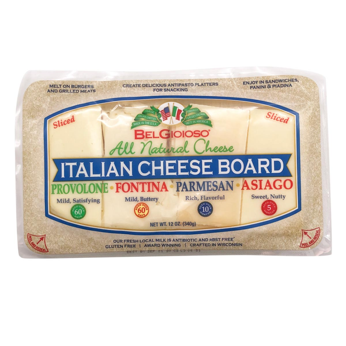 Packaged Cheese Board Front