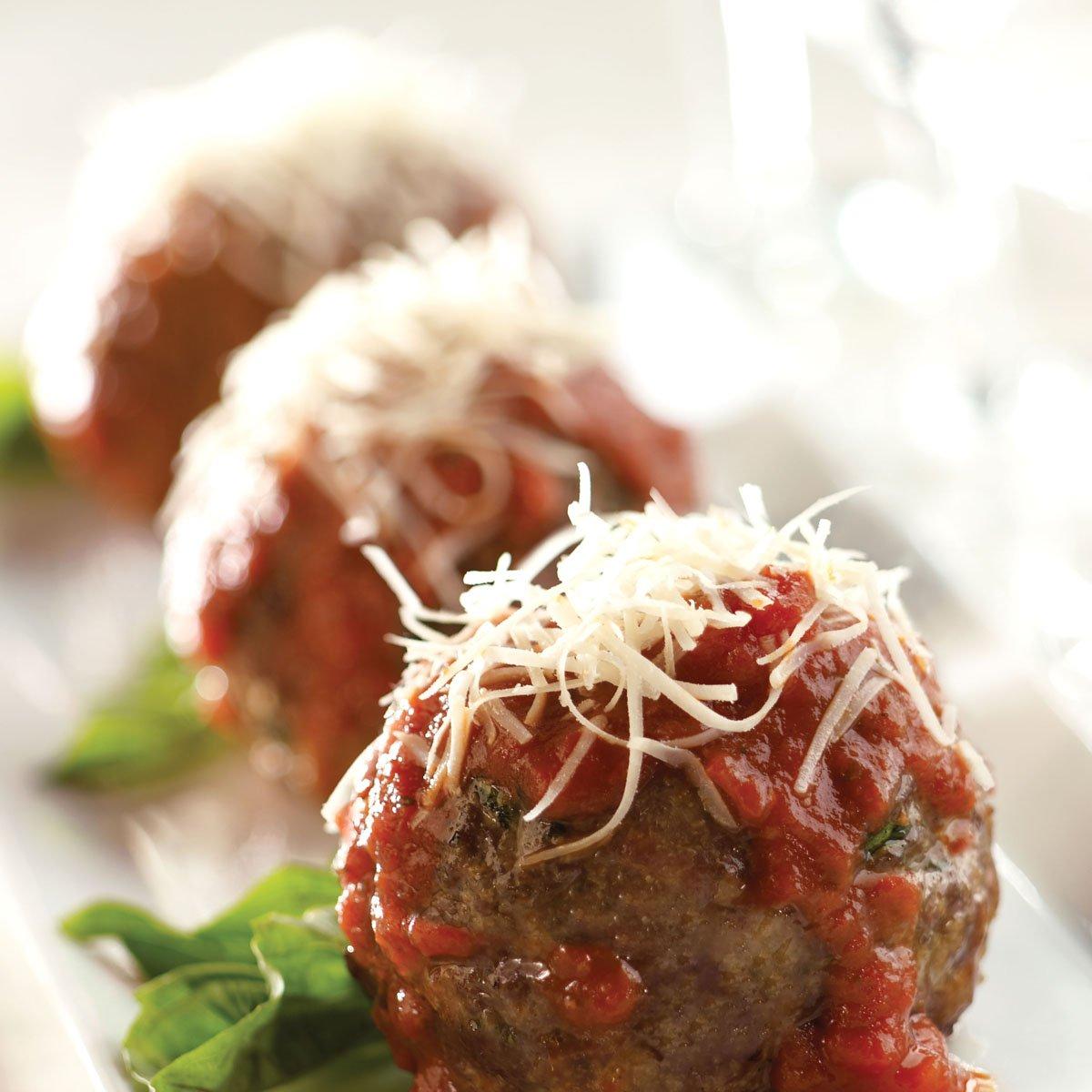Parmesan on Meatballs