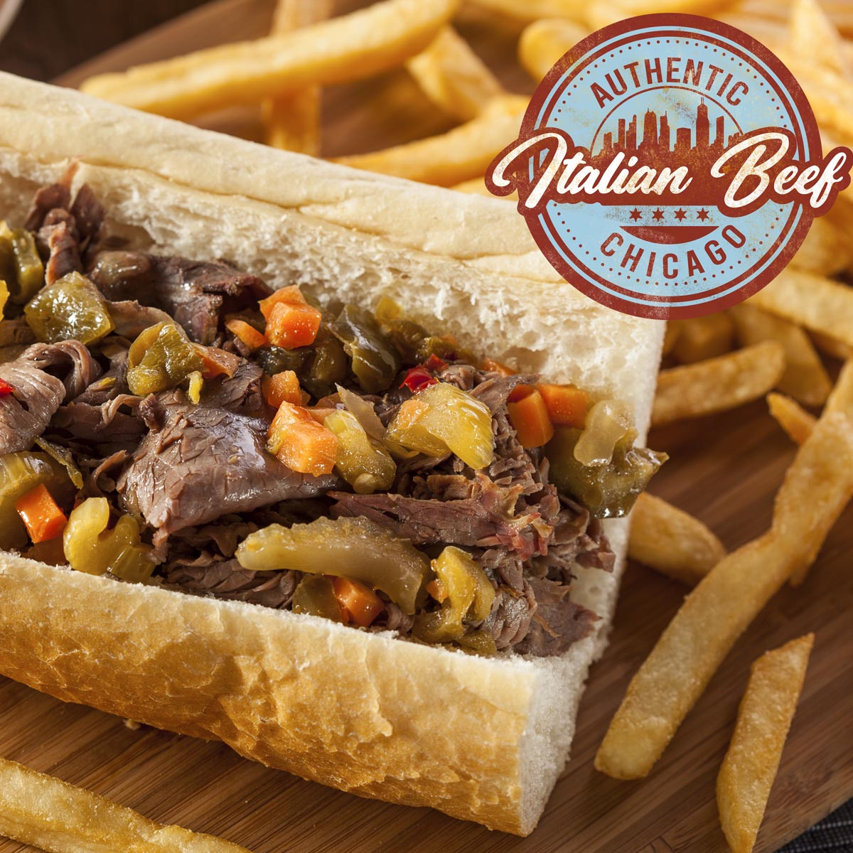 Authentic Chicago Italian Beef Square