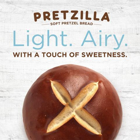 Pretzilla Burger Bun light airy