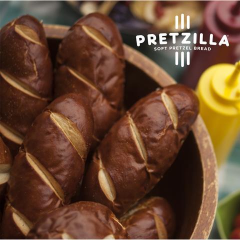 Pretzilla Sausage Bun Plated 2