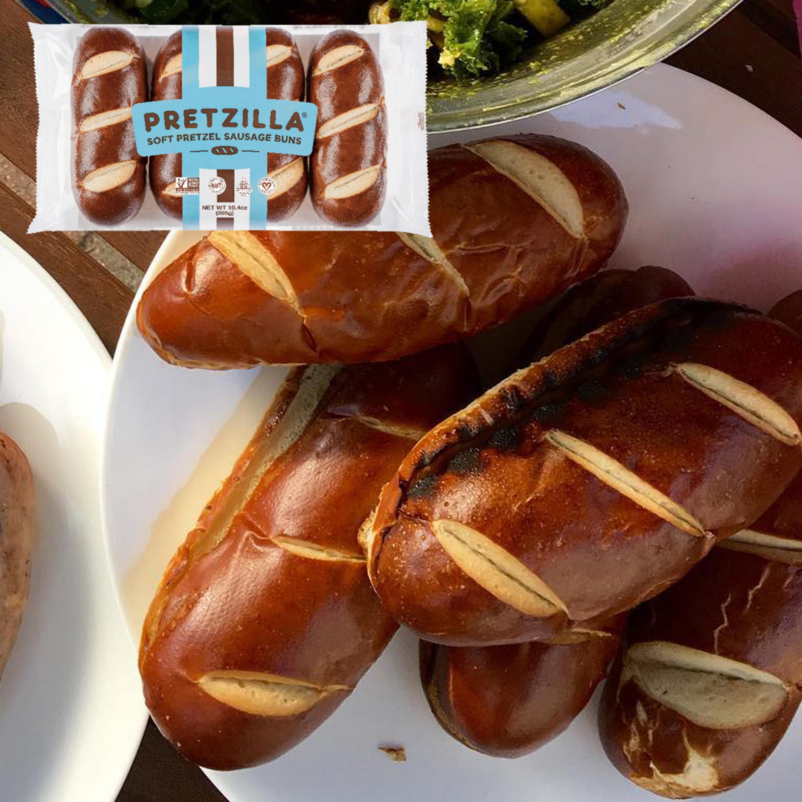 Pretzilla Sausage Buns Feature