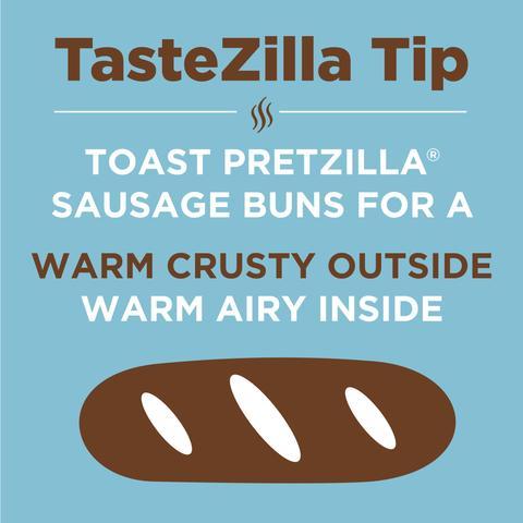 Pretzilla Sausage Bun Tips
