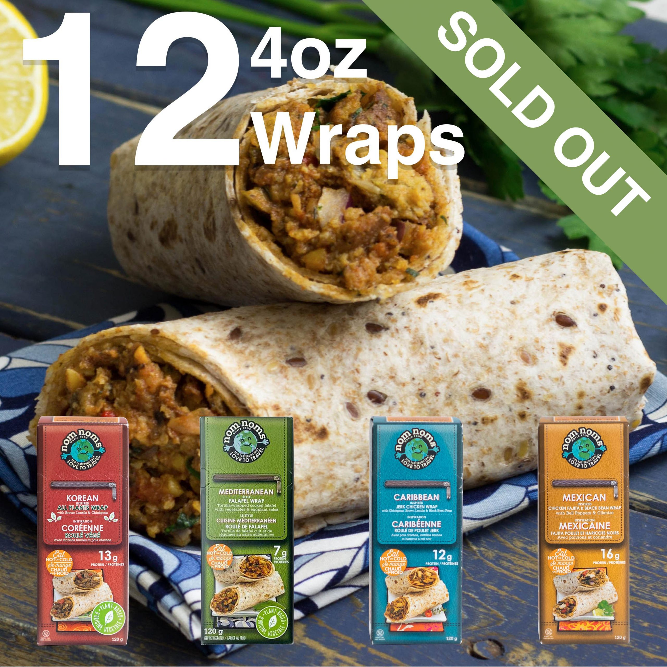 12 4oz Wraps Feature V2 Sold Out