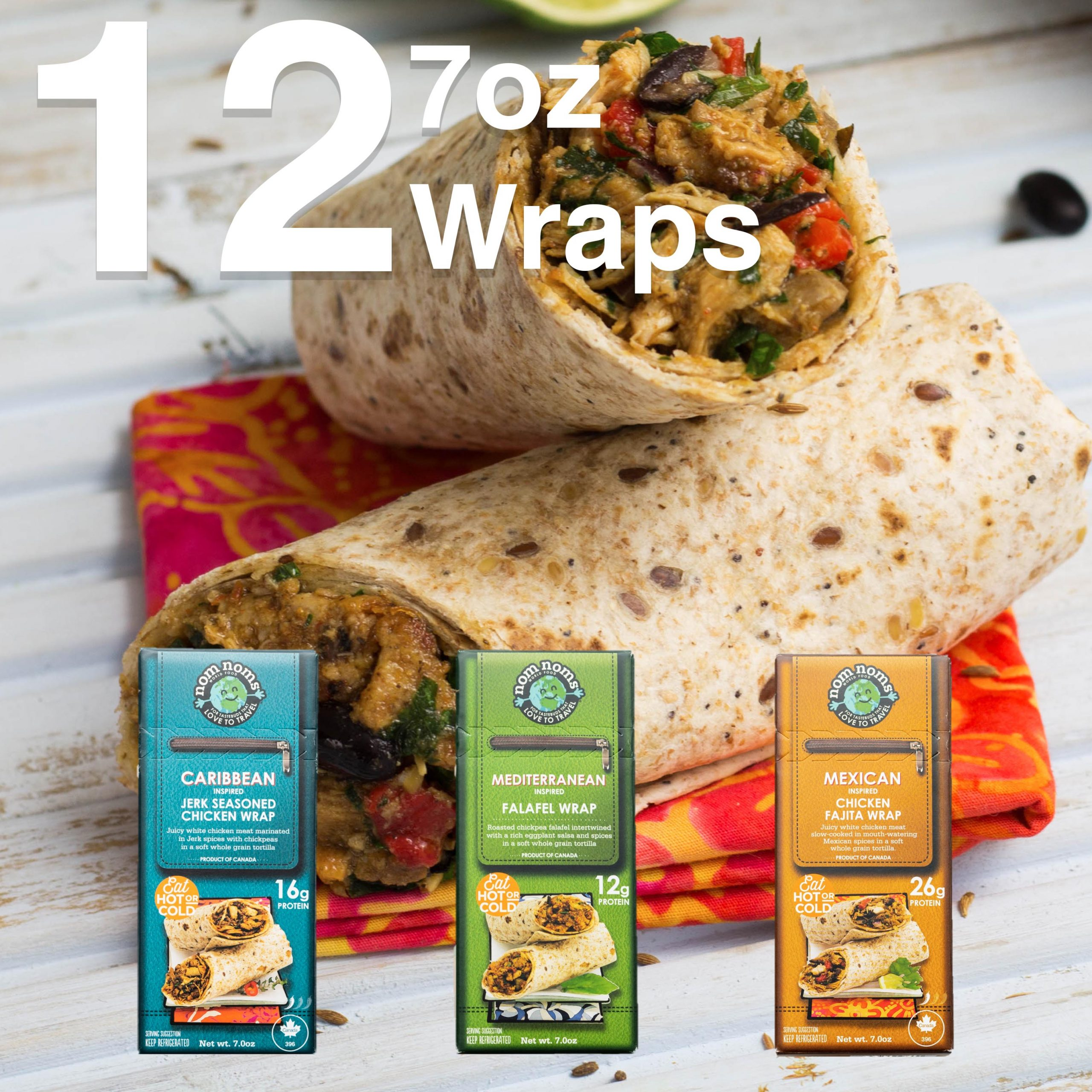 12 7oz Wraps 3 Flavors Feature