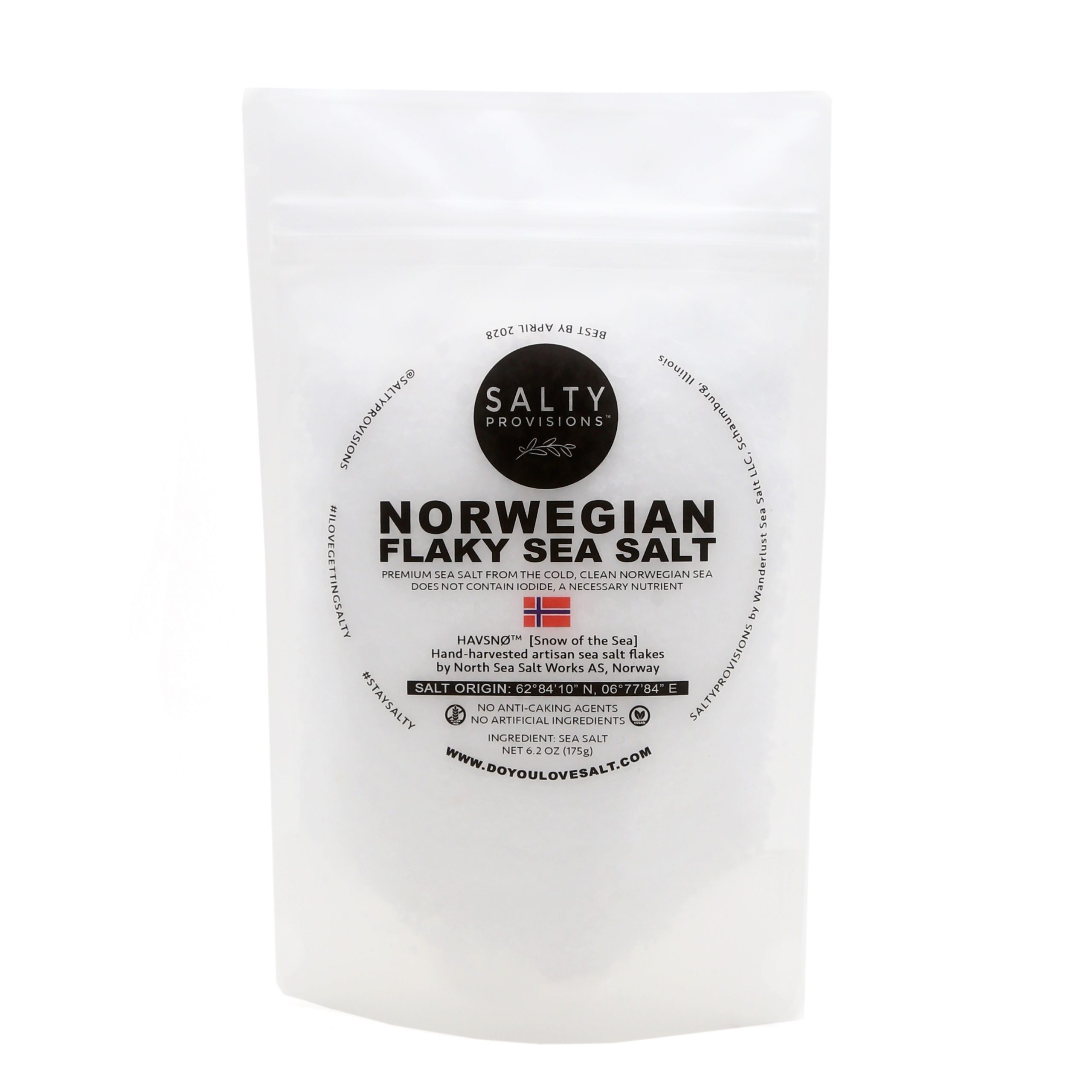 Norwegian Flake Sea Salt Pouch White BG
