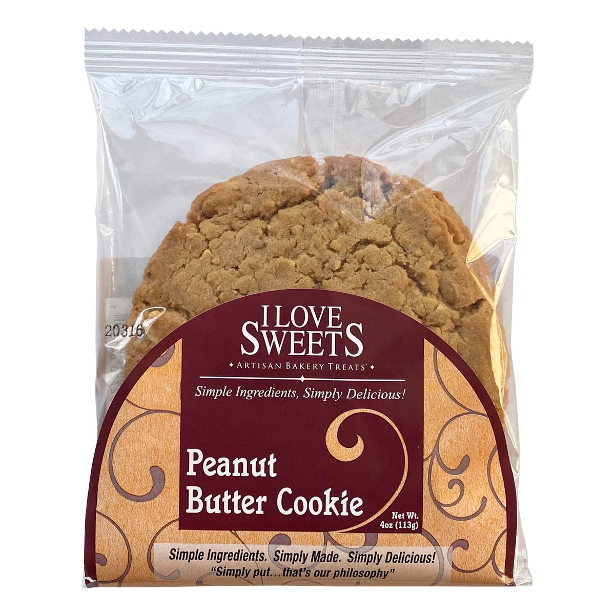 Peanut Butter Cookie Packages Square