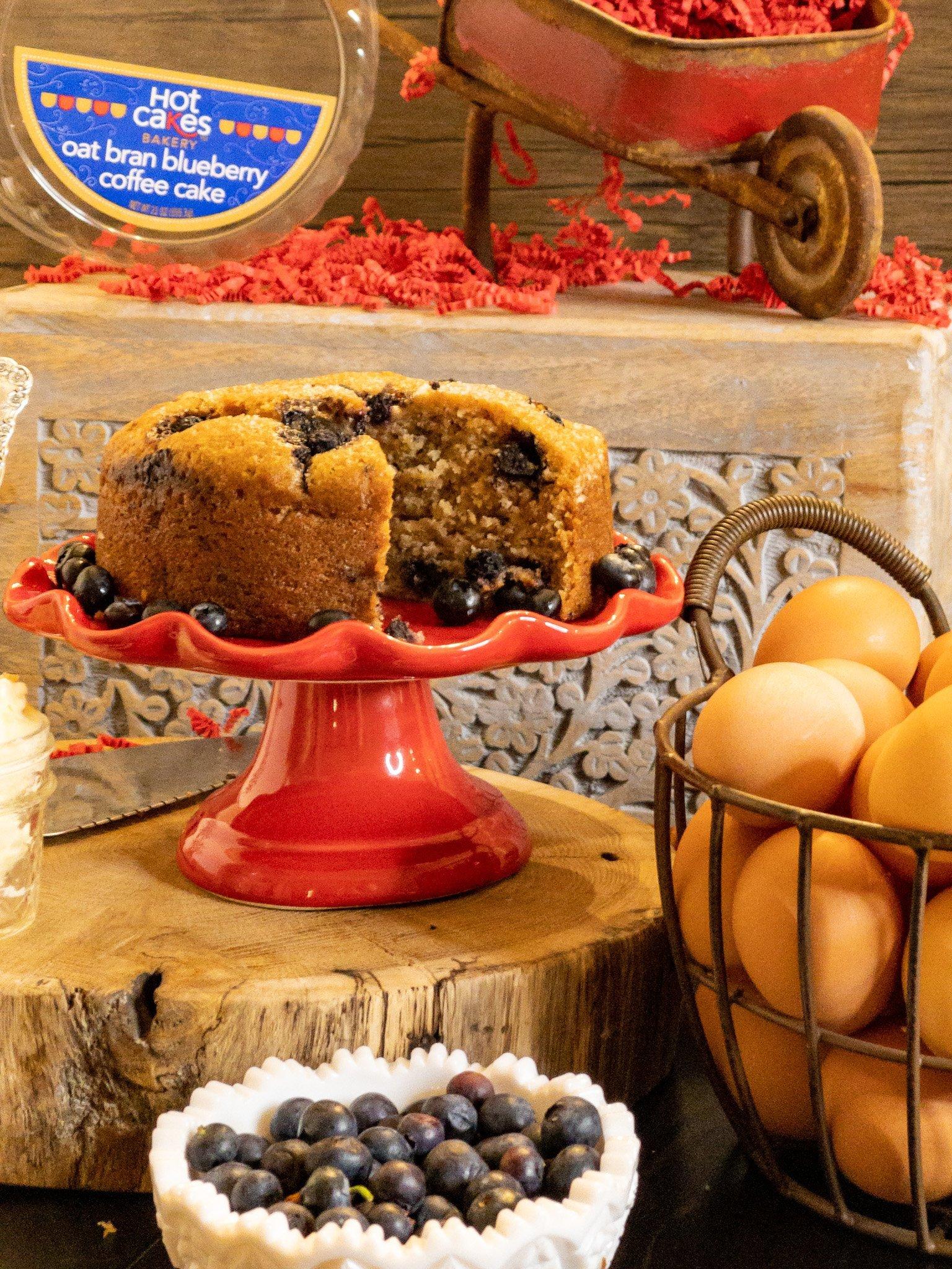Hot Cakes Bakery - Oat Bran Blueberry Coffee Cake 1
