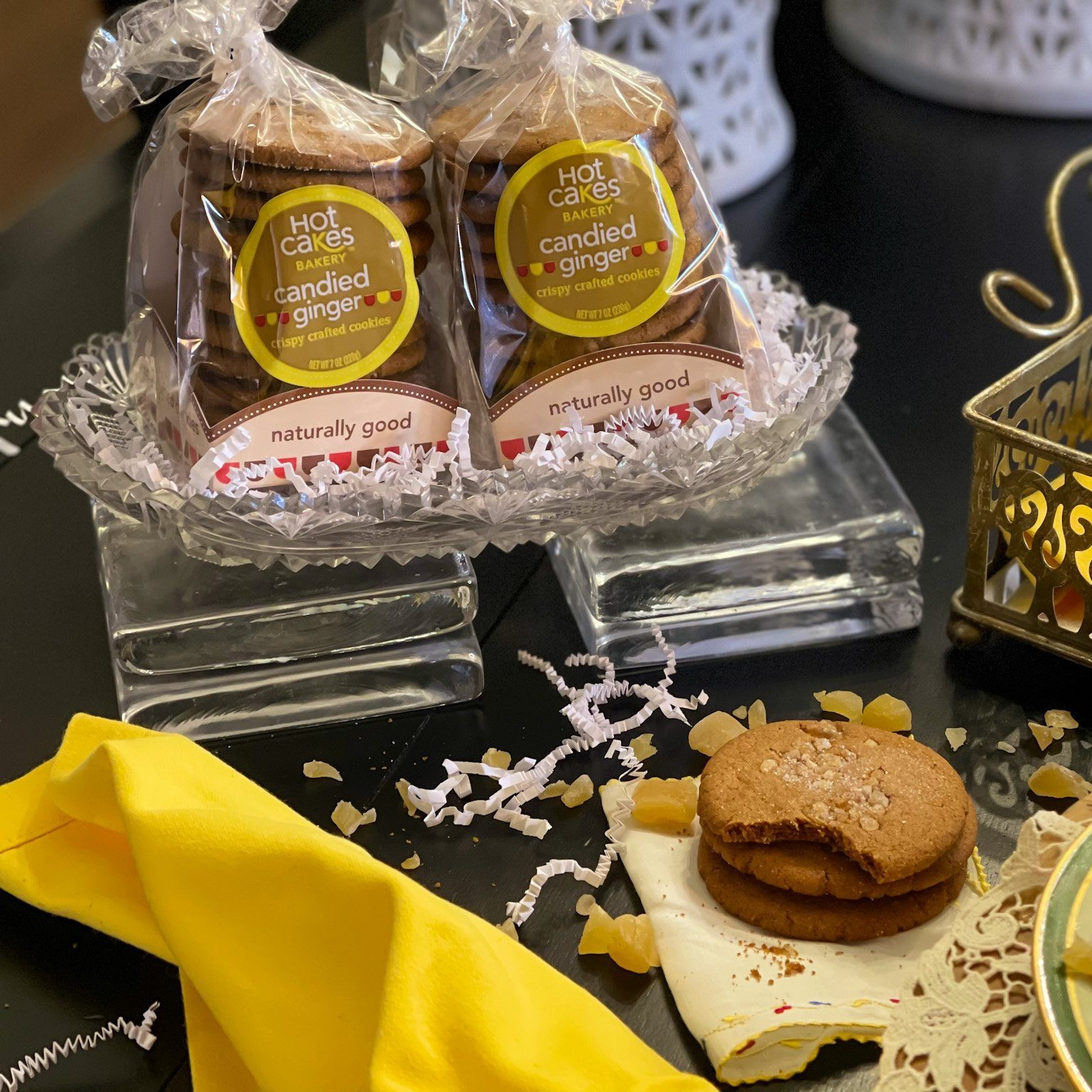 Hot Cakes Bakery - Crispy Crafted Candied Ginger Cookies 2