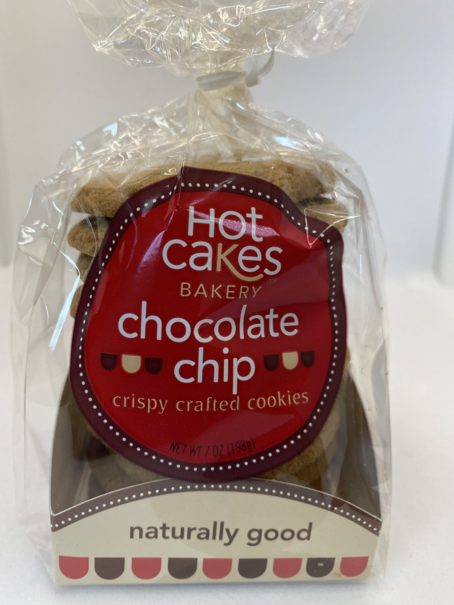 Hot Cakes Bakery - Crispy Crafted Chocolate Chip Cookies Packaged