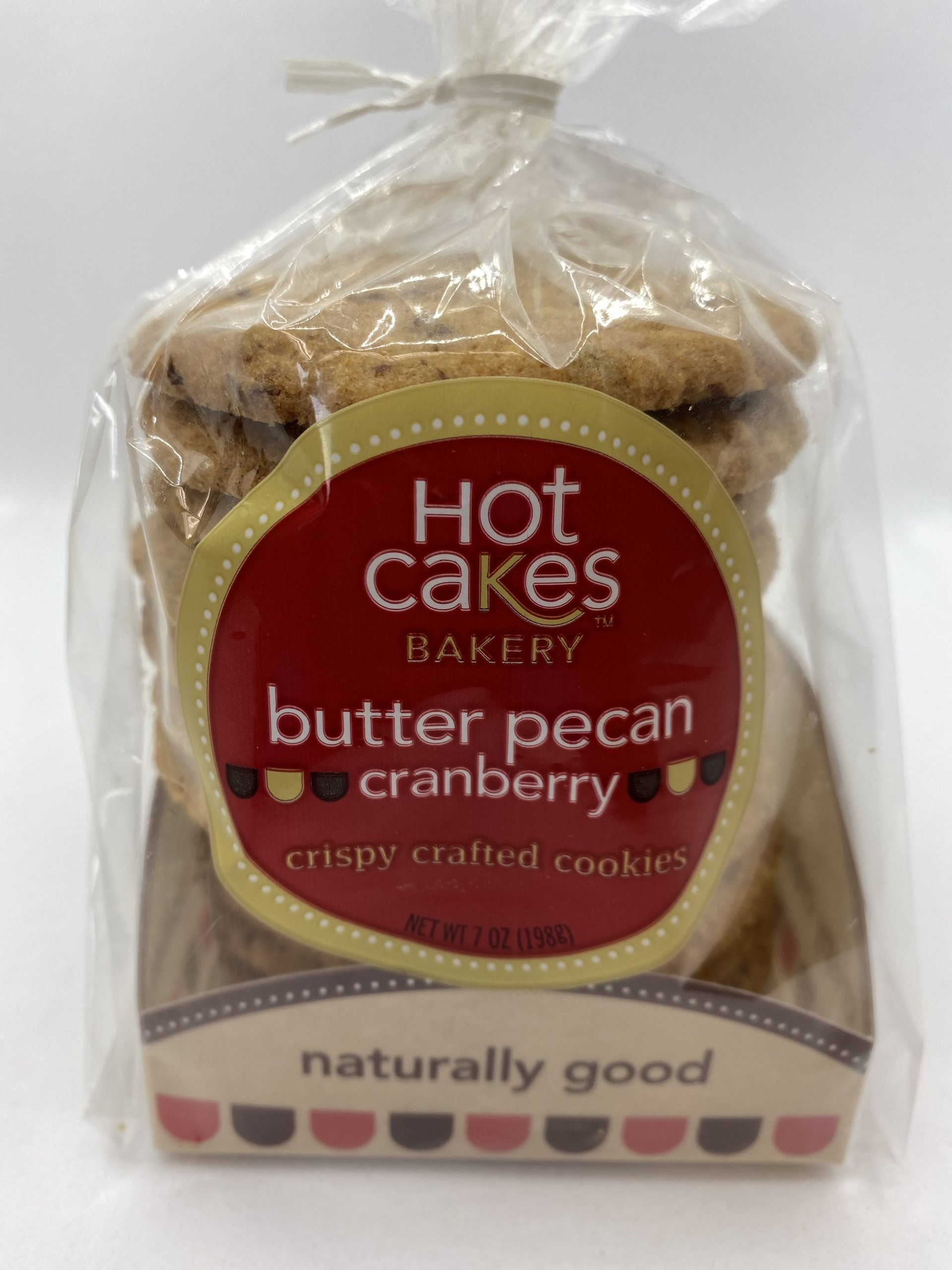 Hot Cakes Crispy Crafted Butter Pecan Cranberry Cookies Packaged
