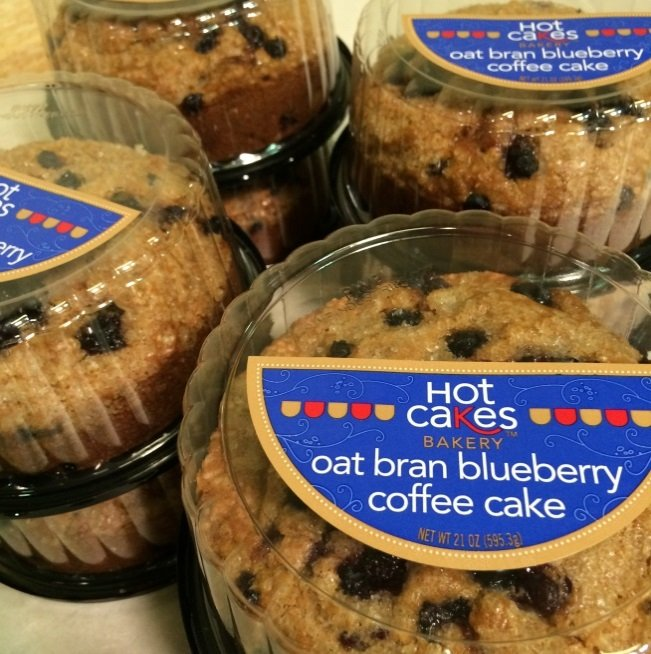 Hot Cakes Bakery - Oat Bran Blueberry Coffee Cake Packaged