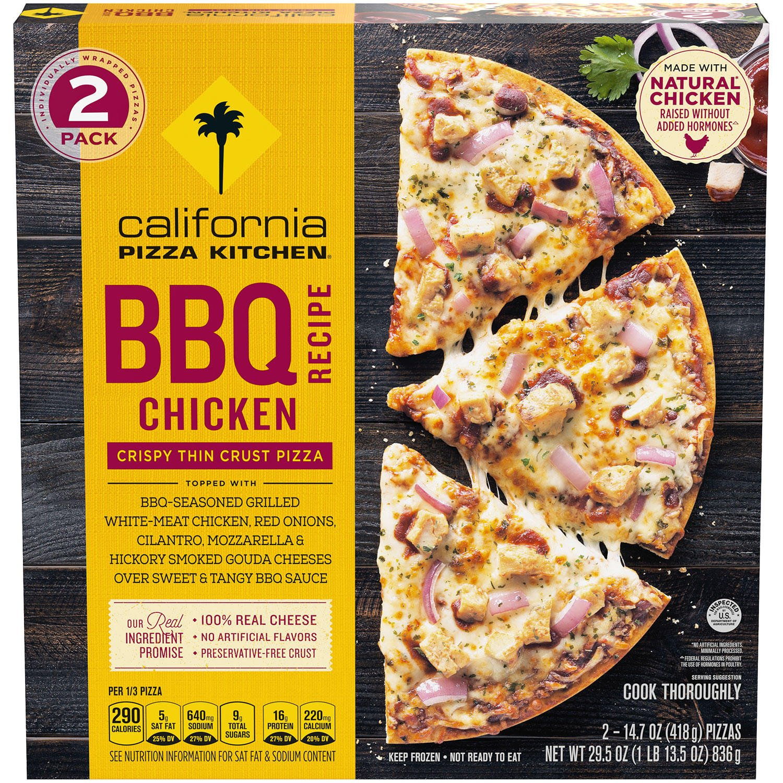 California Pizza Kitchen BBQ Chicken Crispy Thin Crust Pizza Front