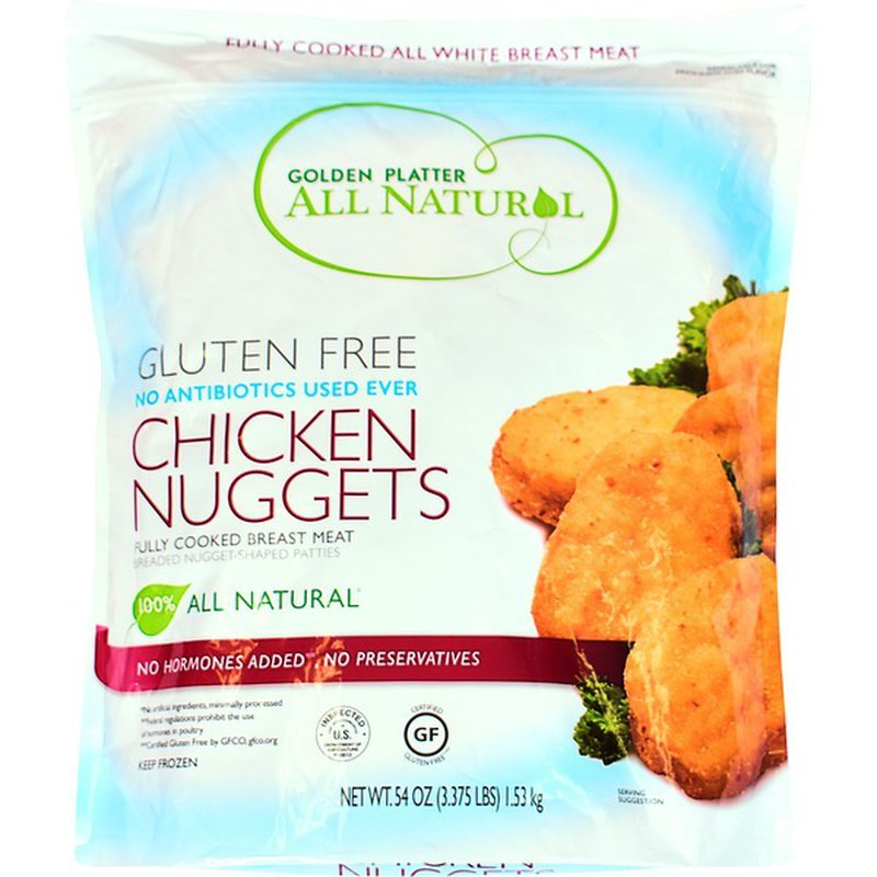Golden Platter Gluten Free Chicken Nuggerts Packaged Front