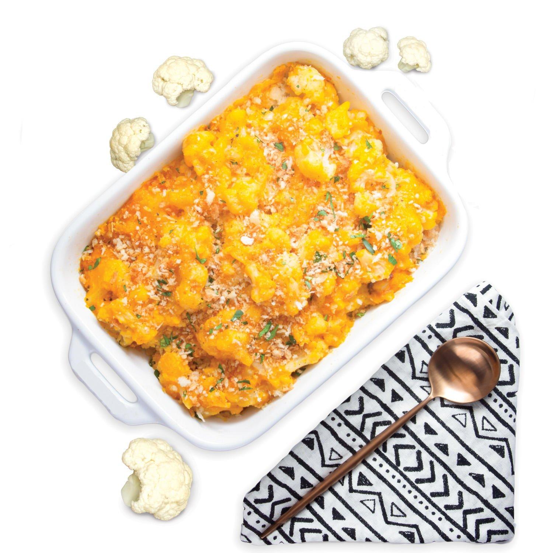 Tattooed Chef Cauliflower Mac & Cheese Plated