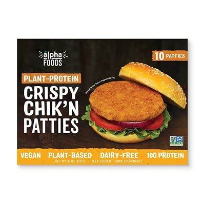 Alpha Foods Plant-Protein Crispy Chick'n Patties-front