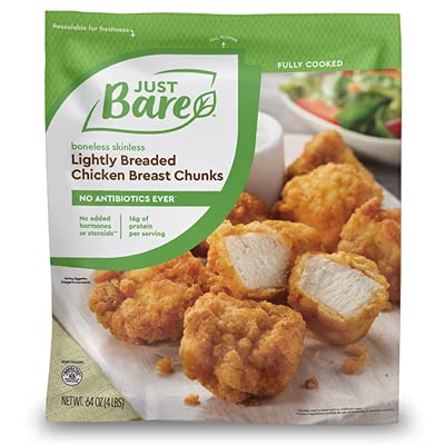 Just Bare Lightly Breaded Chicken Breast Chunks-front