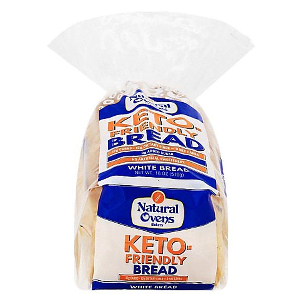 Natural Ovens-Keto Friendly White Bread-front