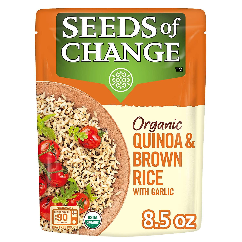 Seeds of Change Organic Quinoa-Brown Rice Garlic-front