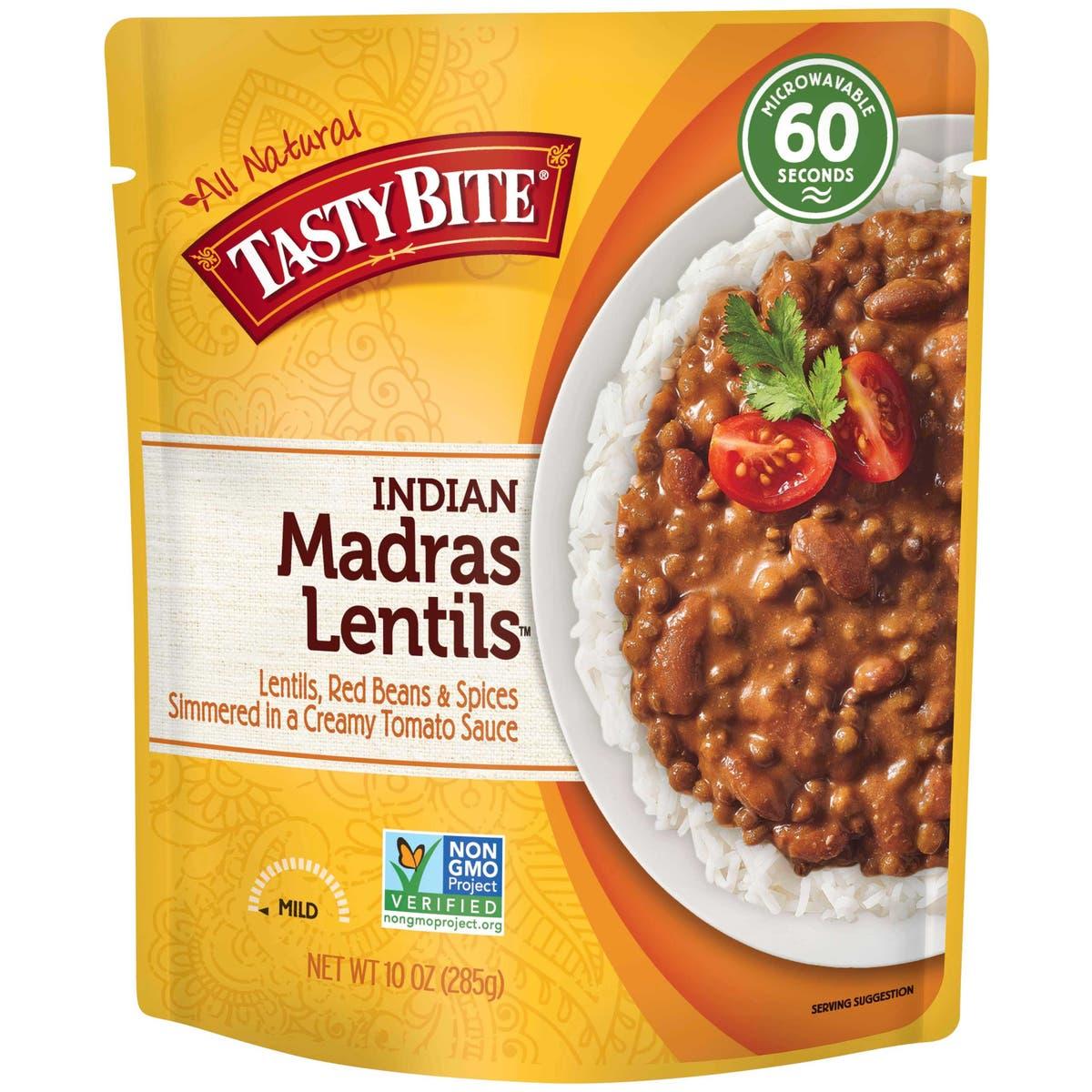 Tasty Bite Organic Indian Madras Lentils-front