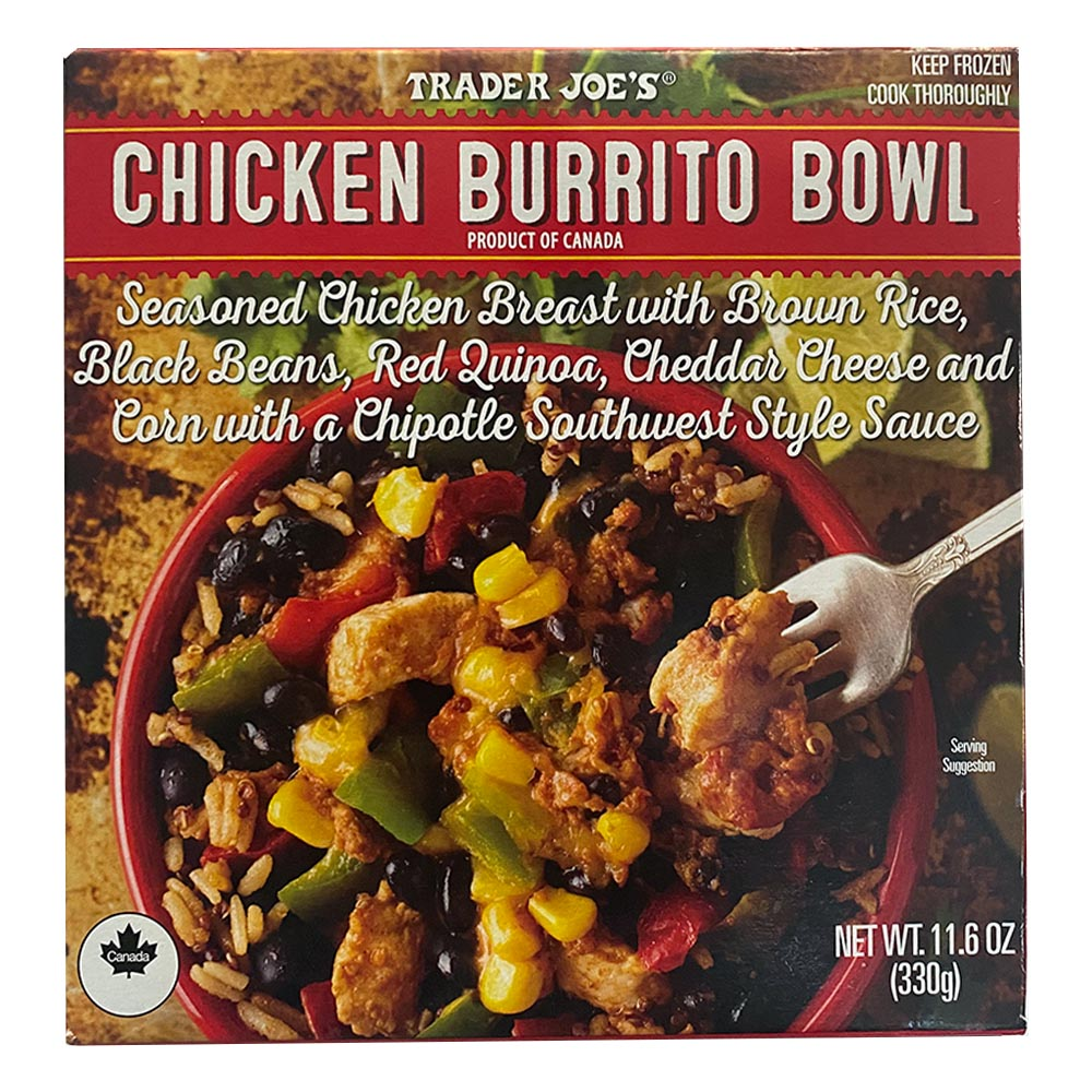 Trader Joes-Chicken Burrito Bowl-front