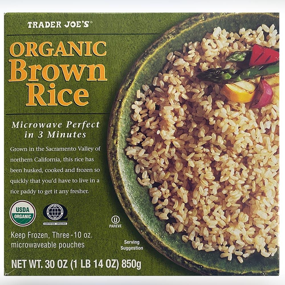 Trader Joes-Organic Brown Rice-front