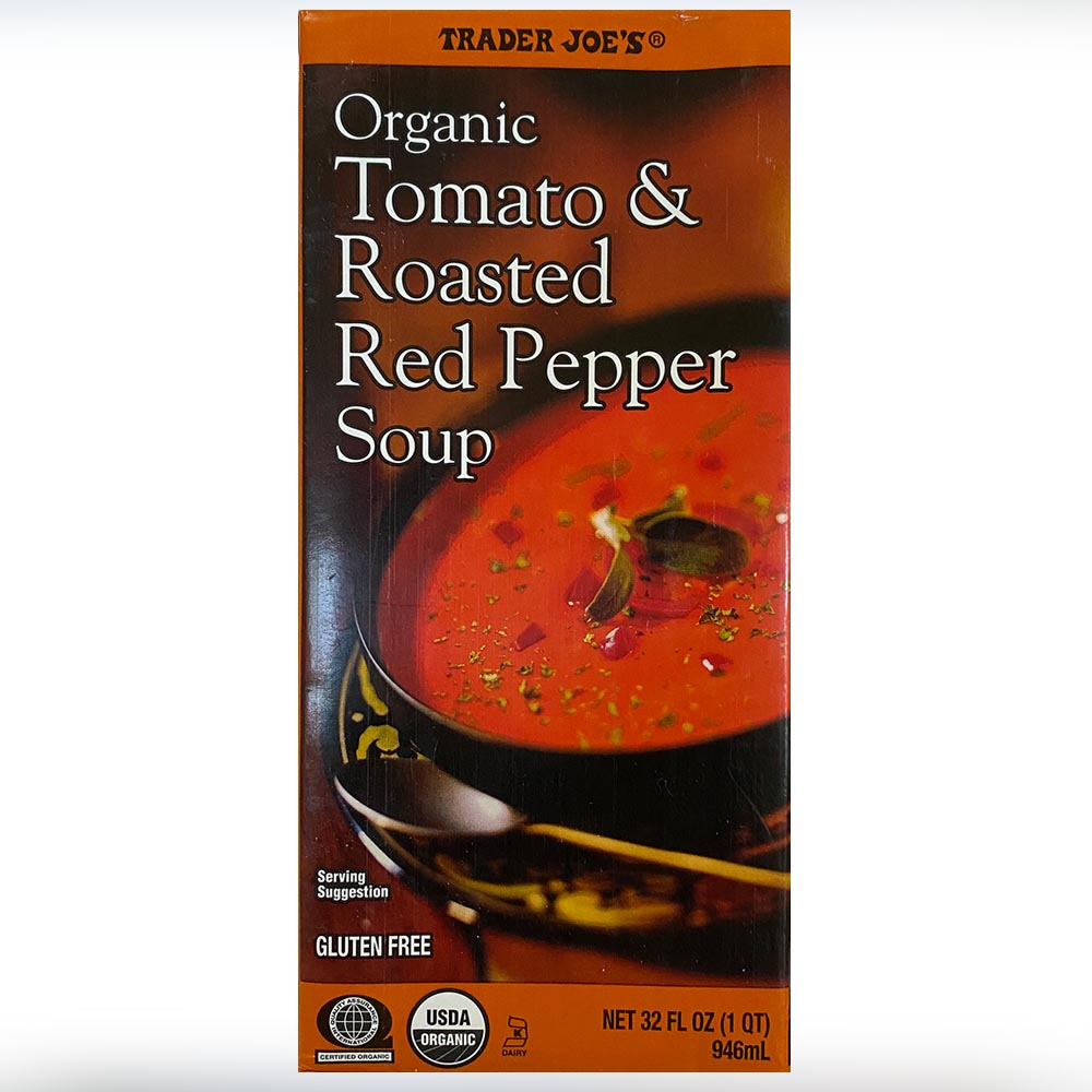 Trader Joes-Organic Tomsto Roasted Red Pepper Soup-front