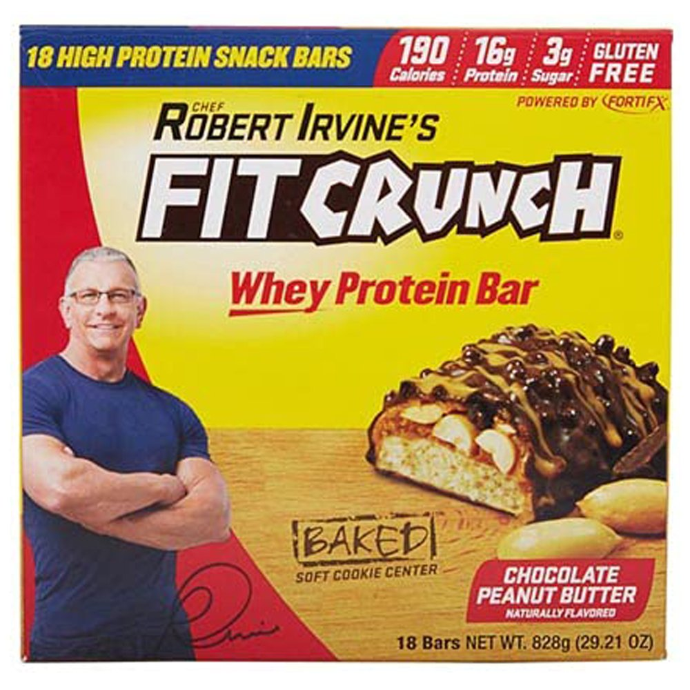 Robert Irvine Fit Crunch Whey Peanut Butter Protein Bars-front