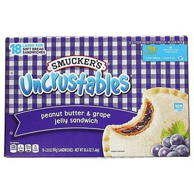 Smucker's Uncrustables Peanut Butter n Grape Jelly Sandwich-front