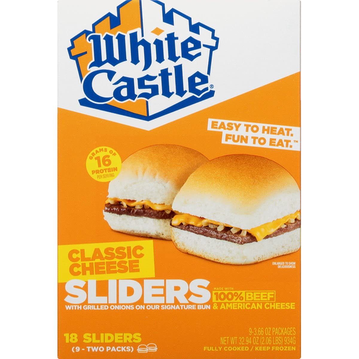 White Castle Classic Cheese Sliders-front